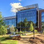 Engineered Biosystems Building. Completed: 2015. Architects: Lake Flato/Cooper Carry. Builder: McCarthy. Size: 218,000 sf. Photo from Lake Flato.