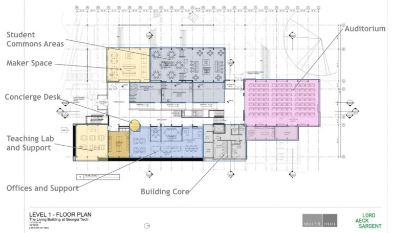 Georgia Tech Living Building Schematic Design Floor Plans