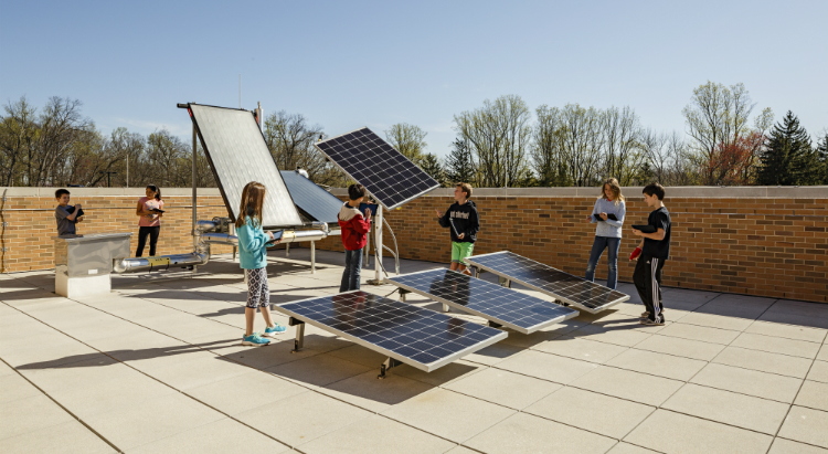 Discovery Elementary School, Solar Lab, net zero school, Lincoln Barbour Photography