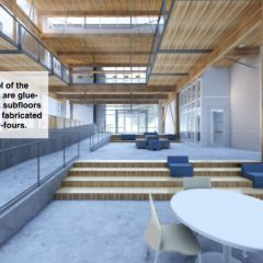 First floor interior rendering, Living Building at Georgia Tech