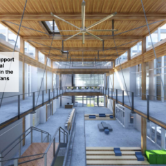Second floor interior rendering, Living Building at Georgia Tech
