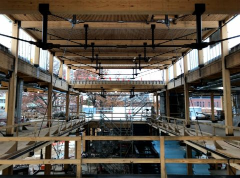 atrium, clerestory, queen truss, Kendeda Building photo essay