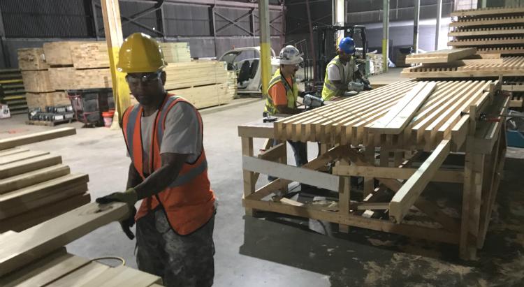 Equity Petal, nail-laminated timber, Materials Petal, GeorgiaWorks