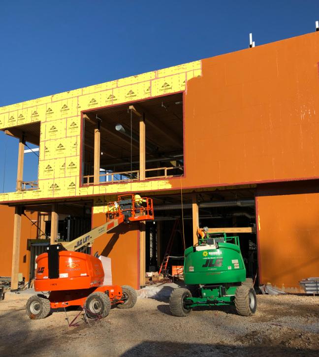 Living Building photos, Prosoco, Densglass